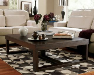 CONTEMPORARY RECTANGULAR COCKTAIL COFFEE TABLE   LIVING ROOM FURNITURE