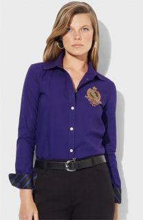 Lauren Ralph Lauren Contrast Trim Logo Shirt