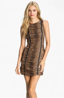 MICHAEL Michael Kors Ruched Animal Print Silk Dress