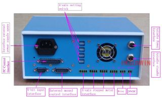 new cnc 4 axis stepper motor driver control controller box