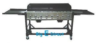 Commercial Rolling 8 Burner Big Event Propane Summer BBQ Grill