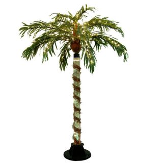 items 6 prelit color changing bubble palm tree clear lights