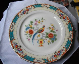 Pheasant Game Bird Porcelain China Czechoslovakia Union K Plate