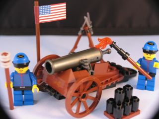 LEGO brick custom CIVIL WAR UNION ARTILLERY CANNON Really Fires 2