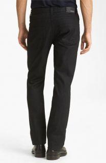 Armani Collezioni Slim Straight Leg Jeans (Solid Dark Blue)