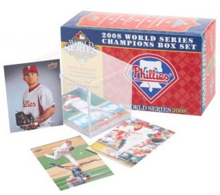 Philadelphia Phillies 2008 World Series Upper Deck Card Set —