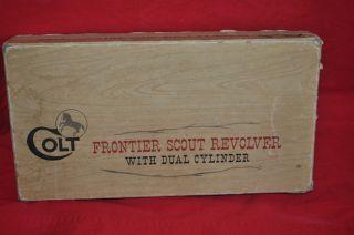 Vintage Colt Frontier Scout Revolver Box 22LR Cylinder Dual Cylinder