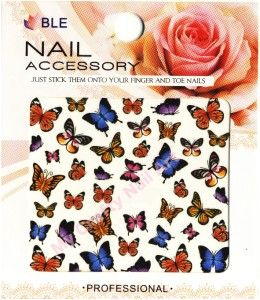 Butterfly Nail Stickers Water Decals Tatoos Transfers 01 03 060