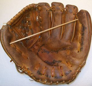 Vintage Rawlings GJ69 TONY CONIGLIARO baseball glove Flex O Matic RED