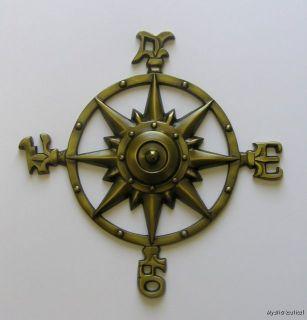 Nautical Brass Compass Rose Garden Wall Decor Direction