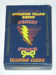 Yellow Ribbon Desert Storm Trading Cards Complete Boxed Set