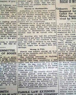 1912 Atlanta GA Old Newspaper Cochran Georgia Negro Lynching
