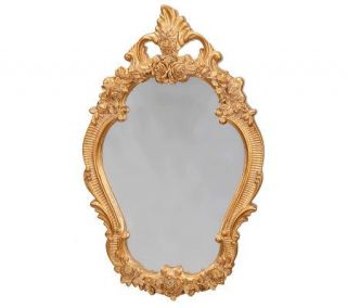 Treasures by Shabby Chic Distressed Rose Gold Tone Mirror —