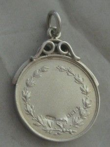 1934 BHAM ART DECO STERLING SILVER COCKERELL ROOSTER WATCH FOB PENDANT