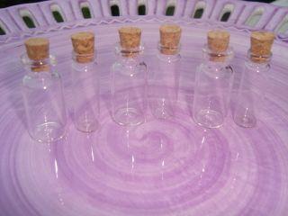 Dollhouse Miniature Clear Glass Bottle Cork Wedding Shower Favor Craft