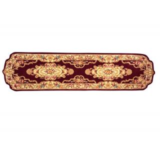 Royal Palace Stately Die Cut Handmade 26x10 Wool Runner —