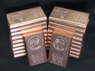 Pound Copper Bullion Bar 999 Fine Copper Bullion w 1 Gold Vial