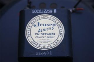 Vintage 15 Jensen P15R Alnico 5PM Concert Series Guitar Amp Amplifier