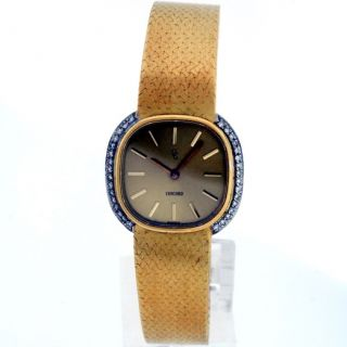 concord 14k yellow gold 61gm diamond ladies watch