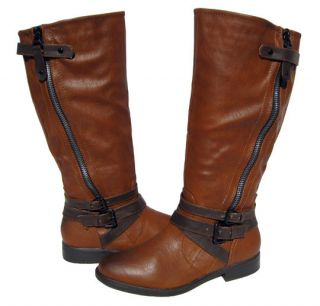 Womens Tan Riding Boots Cognac Shoes Winter Snow Fur Lined Ladies