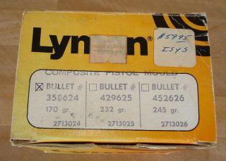 RARE VINTAGE LYMAN COMPOSITE CAST PISTOL BULLET MOLD BLOCKS 358624 C J