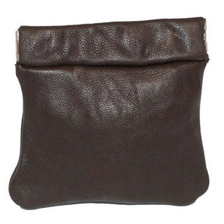 Brand New Genuine Leather Coin Change Purse with Elastic Closure