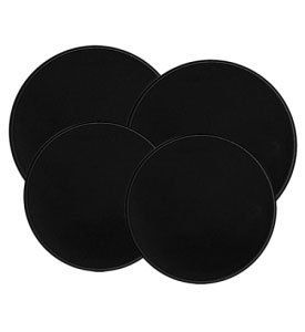Set of 4 Round Black Cooktop Burner Covers Kitchen Accessory