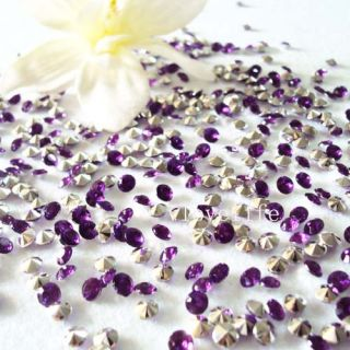 5000 Purple Silver Diamond Confetti Wedding Decoration