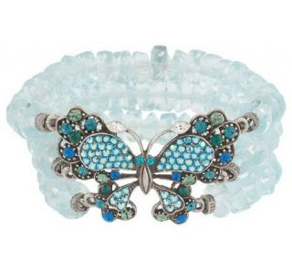 Kirks Folly Bella Donna Butterfly Stretch Bracelet —