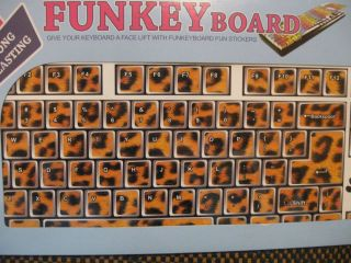 Funkey Board Designed Computer Laptop Keyboard Stickers Decals Cheetah