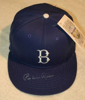Pee Wee Reese Signed Brooklyn Dodgers Cooperstown Collection Hat