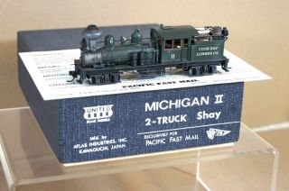 Models Brass Michigan II 2 Truck Shay Coos Bay Lumber Loco PQ