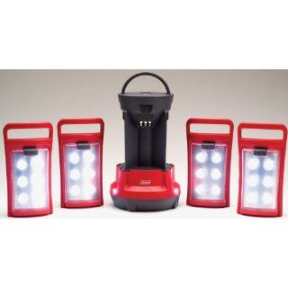 Coleman Rechargeable Battery LED Quad Lantern with 4 Removable LED