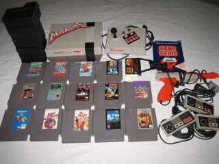 Nintendo NES Deluxe Console (NTSC) 14 Games NES Advantage, Game genie
