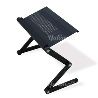 Adjustable Laptop Table Computer Desk with Vented Design Bed Tray iPad