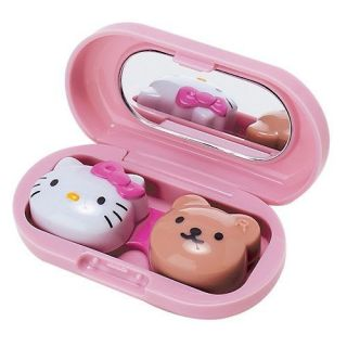 Hello Kitty Soft Contact Lens Case Pink