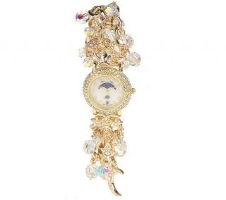 Kirks Folly Crystal Moon Dreamer Bracelet Watch —