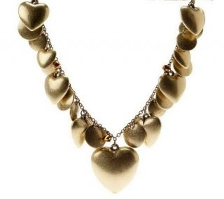 Joan Rivers Cascading Hearts 30 Charm Necklace w/3 Extender