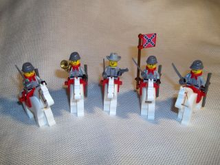 Lego Civil War Custom Confederate Horse Cavalry Set