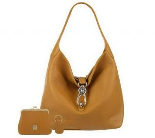As Is Dooney & Bourke Leather Hobo with Lock —