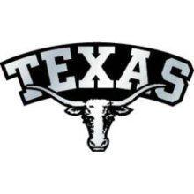 Texas Longhorns Chrome Auto Emblem Decal Football