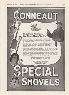 1920 Conneaut Shovel Co Conneaut Oh Ad Muck Stick Mining Diamond Point