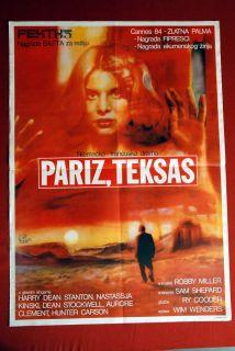 Texas Nastassja Kinski Wenders Ry Cooder 1984 EXYU Movie Poster