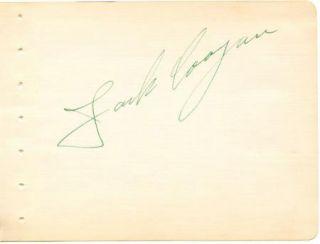 Jackie Coogan Vintage 1940s Original Signed Album Page Autographed