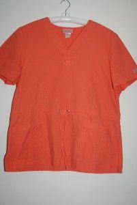 Scrub TOP Size L Peaches Uniforms Katherine Heigl Collection 5024 Cori