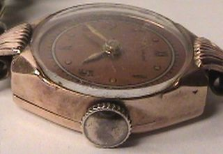 Vintage Boulevard Watch 17 Jewel Swiss Colomby 14k Solid Rose Gold