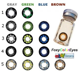 Pure Color Contact Lenses 15 Colors Best for Dark Eyes