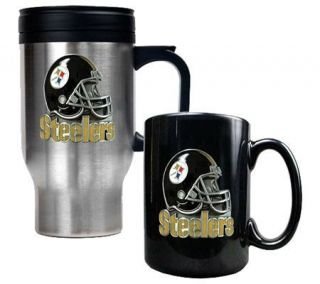 NFL Pittsburgh Steelers Helmet Travel & CeramicMug Set   K128240