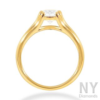 14K YELLOW GOLD G COLOR ROUND CUT DIAMOND ENGAGEMENT RING 1CARAT