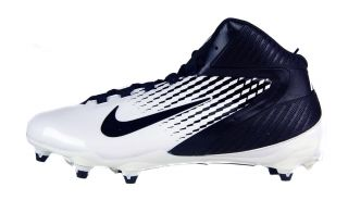 Nike Alpha Speed D Sz 14 Mens Football Cleats Black White